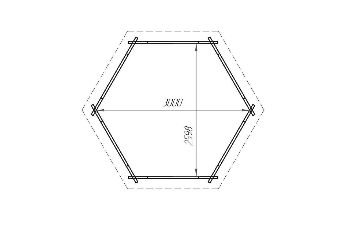Построить пятиугольную беседку своими руками 31